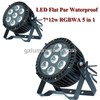 LED Flat Par Waterproof 7*12W RGBWA 5 in 1 LED Stage Light