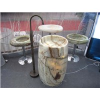 Green Onyx Barrel Sink,Green Onyx Pedestal Sink,Green Onyx Wash Basin