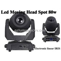 80W COB Diode LED Moving Head Spot Stage Light/Pub/Bar Decorated Light