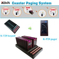 1 keypad support 20 coaster pager Service Equipment Wireless Coaster Paging System