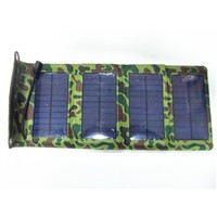 7W 5V mini folding solar charger for mobile phone/tablet PC/USB input devices