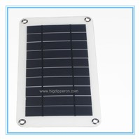 8W outdoor semi flexible solar film photovoltaic charger for mobile phone,tablet,bluetooth headset