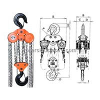 Manual chain hoist instruction