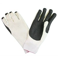 Rubber Coated Cotton Glove Natural rubber palm dipped  anti-slip cut and abrasion resistance