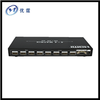 1.4V HDMI matrix switch 4x4 with RS232