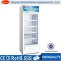 Beverage showcase cooler, showcase freezer with CE