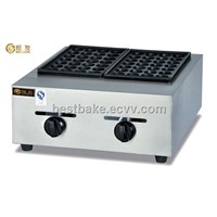Gas 2-Pallet Fish Pellet Grill /Takoyaki Machine BY-GH767