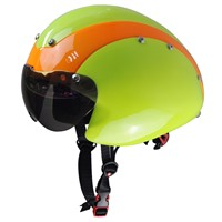 In mold helmet for time trial racing, custom cycle helmet