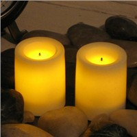 Real Wax Flameless LED Candle with Black Wick