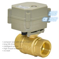Good sealing 1/2'' 2 Way Motorized Brass Ball Valve (T15-B2-C)
