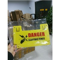 Hot sale agriculture cattle electrical fence warning signs board --Manufacturer