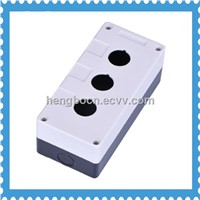 manufacture plastic push button control switch box with 3 hole