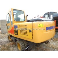 used wheel excavator pc100 cheap for sale look for agent of excavator
