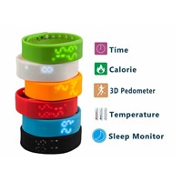 With temperature monitoring to detect movement sleep smart wristband pedometer