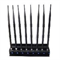Adjustable 8 Antennas20 w gps/ WiFi/ vhf/ uhf/315/433/4g lte and winmax Jammer