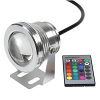 10W 12V Underwater RGB LED Flood Wash Pool Waterproof Light Spot Outdoor Lamp & Remote