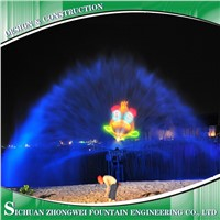 Laser Water Screen Projection