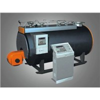 Oil and gas-fired steam boiler