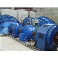 Shaft Extension Tubular Turbine , Low Head S Type Water Turbine