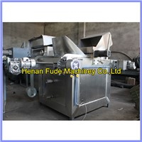 electric peanut broad beans frying machine, fryer with oil filter, nuts oil roaster
