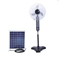 Solar DC Fan with LED Light
