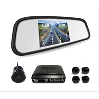 car mirror monitor video display parking sensor with camera