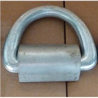 Marine D ring with straps, CCS certificate, galvanized