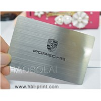 stainless steel brushed metal card