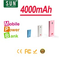 2014 hot 4000mAh GOOTA h1 power charger for iphone HTC Samsung or tablet power bank