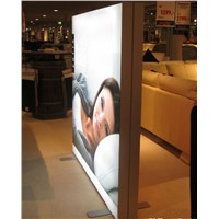 Floor Standing Double Side LED fabric Display for Retail Shop