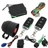 One way car alarm system with remote car door lock and unlock,remote trunk release,Silent Aalrm