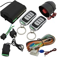 One way car alarm system with ultrasonic sensor remote control trunk release