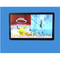 65 inch wall mounted ad player android motion sensor network wifi advertising video player