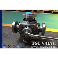 Four-way forged ball valve