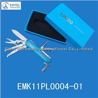 Hot sale Multi Knife with gift box , Knife handle and box color can be customized(EMK11PL0004-01)