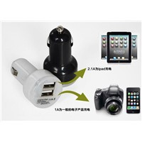 Dual Port USB Car Chargers for iPod/iPhone/iPad