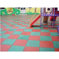 Safety Playground Rubber Tile, rubber flooring tile