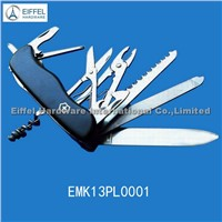 11 in 1 High Quality Swiss Army Knife , with ABS Handle in Black (EMK13PL0001)