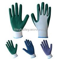 13 gauge bamboo liner latex foam gardening gloves