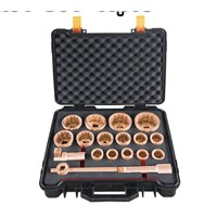 "X-Spark Non Spark and Non Magnetic  1"" Dr Socket Set-18pcs /NO.101"