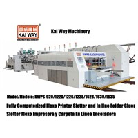 Fully Comptuerized Flexo Printer Slotter and In Line Folder Gluer