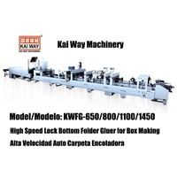 High Speed Lock Bottom Folder Gluer for Box Making