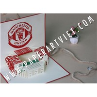Pop up greeting card Architecture Stadium Manchester United FC