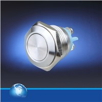 19mm latch on/off stainless steel push button switch for electrical controls