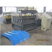 Curved cladding sheets making machine