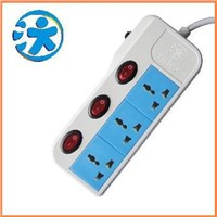 Individual Switch Power Strip Socket with Overload Protection / Universal AC Power Sockets