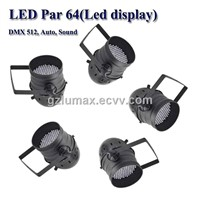 LED Par 64(Led display) DMX 512, Auto, Sound Color Limitless Mixing System