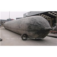 Ship launching rubber airbag