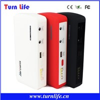 13600mAh Two USB output portable car emergency power supplier car jump sterter for laptop auto