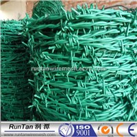 PVC coated galvanized Barbed wire double strand